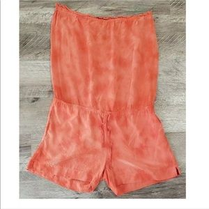 Young Fabulous Broke Romper Short Strapless Silk